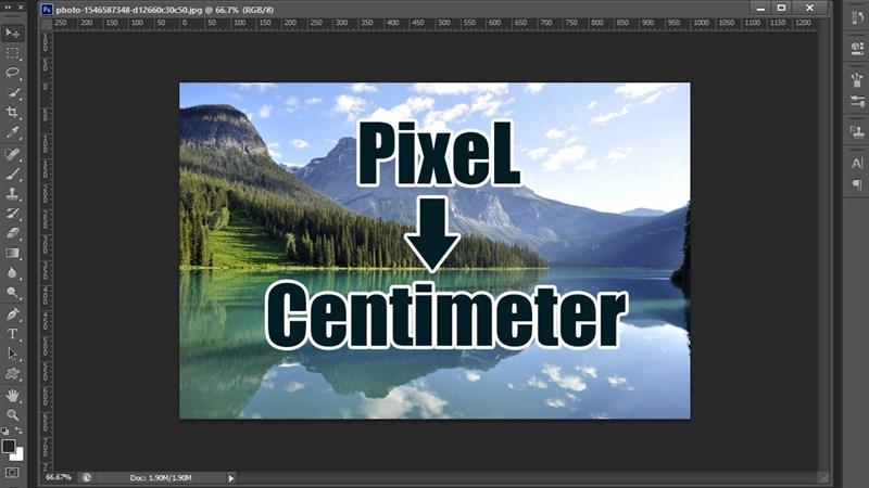 Cách đổi pixel sang cm trong photoshop
