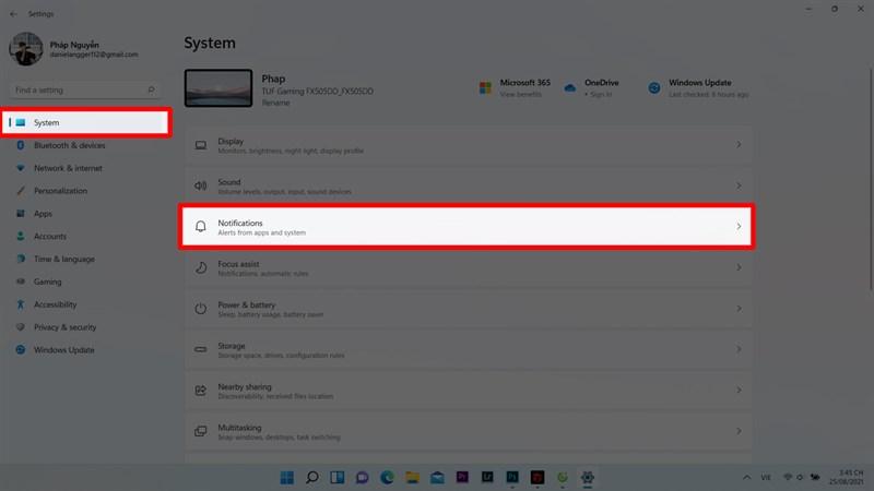 Thông báo Windows 11