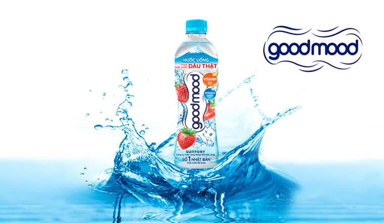 Review nước uống Goodmood vị dâu mới - chiết xuất từ dâu thật cực mát lành