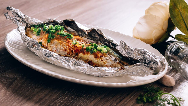 Cá ngừ nướng giấy bạc