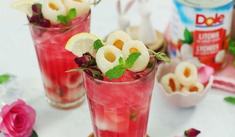 Cách làm trà vải hoa hồng thanh mát giải nhiệt cho ngày nắng nóng