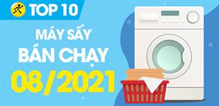 Top 10 Máy sấy quần áo bán chạy nhất tháng 8/2021 tại Điện máy XANH