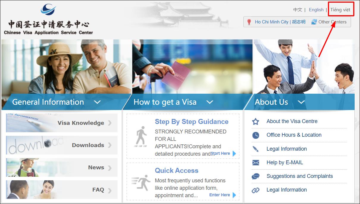 Hẹn nộp hồ sơ xin visa