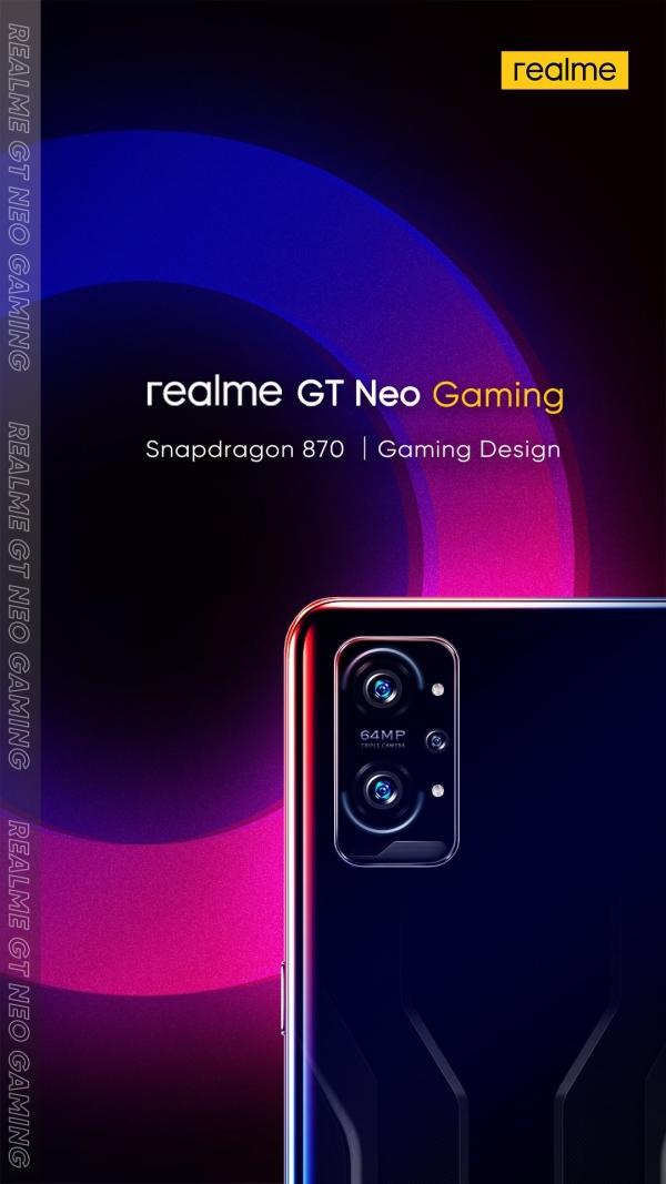 Poster tiết lộ thông số kỹ thuật và một phần thiết kế của Realme GT Neo Gaming