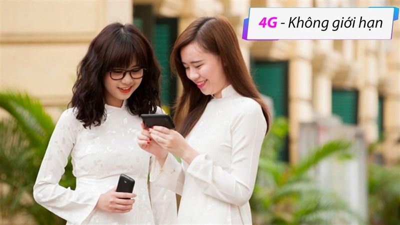 Gói cước 4G không giới hạn dung lượng