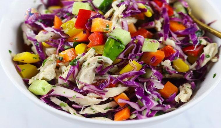 Cách làm salad cầu vồng đẹp mắt, ngon miệng, đơng giản cho người giảm cân
