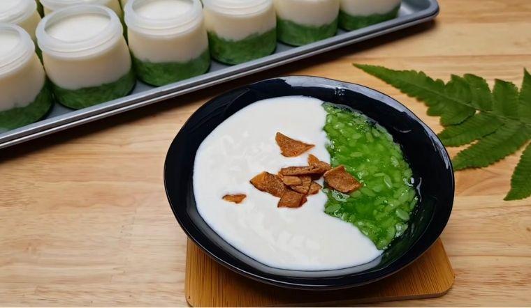 Cách làm sữa chua cốm xanh sánh mịn thơm mát đơn giản ăn là mê