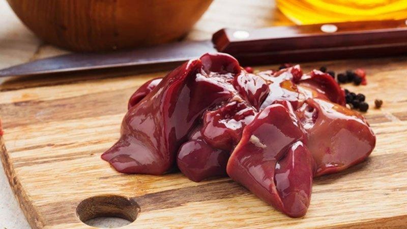 Gan gà chứa nhiều vitamin B5