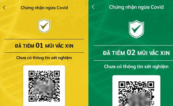 Họ sẽ kiểm tra giấy chứng nhận tiêm của bạn và có thể nhận được thẻ vàng hoặc thẻ xanh đối với COVID-19.