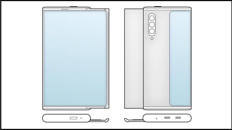 Cơ chế cuộn của Galaxy Z Slide khá giống với OPPO X 2021 với màn hình mở rộng ở cạnh bên