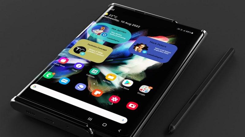 Samsung Galaxy Z Slide ấn tượng với màn hình cuộn hứa hẹn mang đến một trải nghiệm sử dụng mới lạ hơn cho người dùng