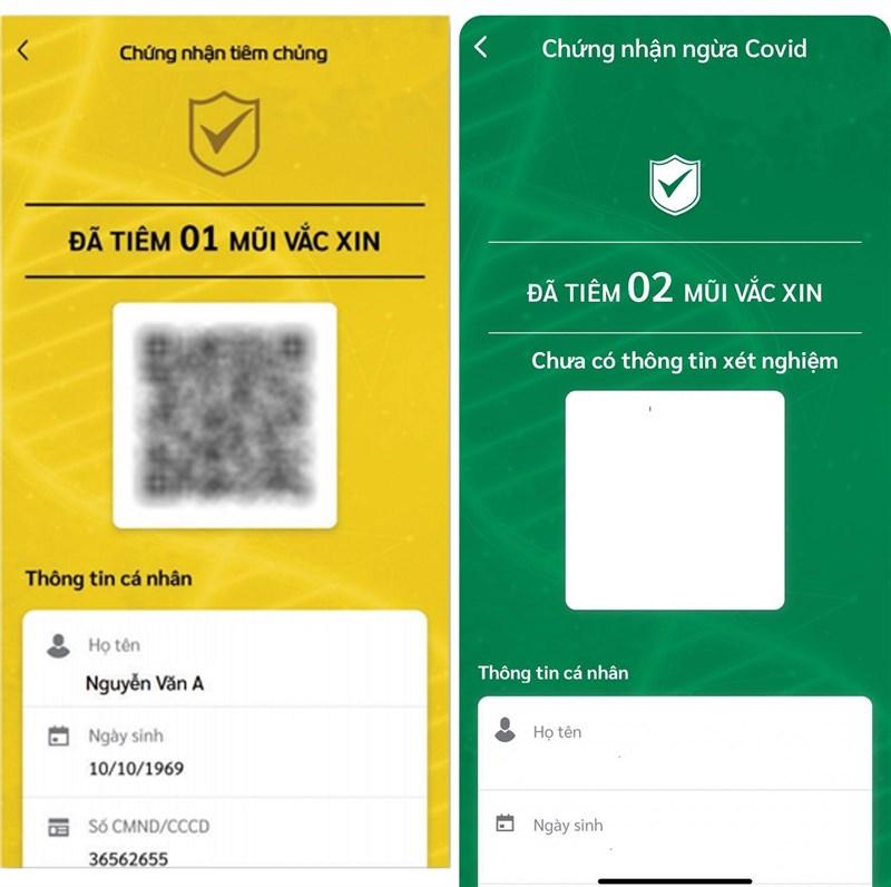 Thẻ xanh thẻ vàng Covid-19