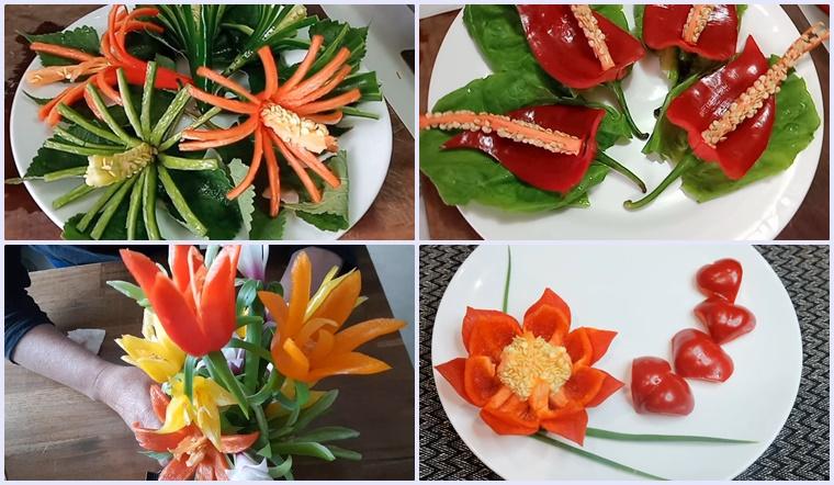 4 cách tỉa hoa ớt đơn giản trang trí món ăn cực đẹp