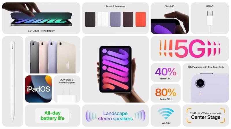 iPad mini 6 ra mắt