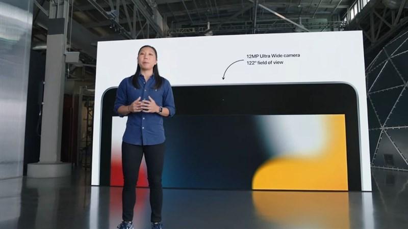 iPad Gen 9 được trang bị camera trước góc siêu rộng 12 MP.