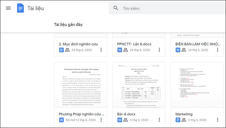 Mở tệp mà bạn muốn chia sẻ trong Google Tài liệu, Google Trang tính hoặc PowerPoint