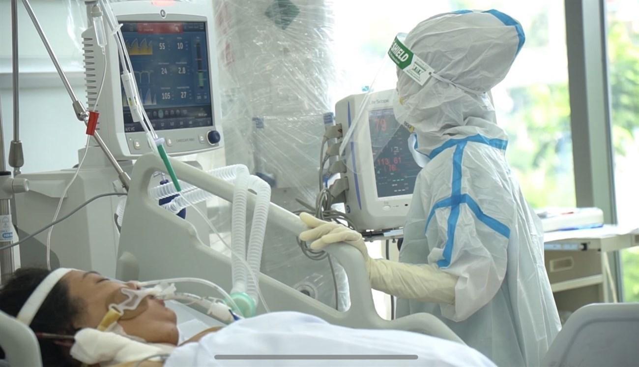 Bệnh nhân phải sử dụng máy thở