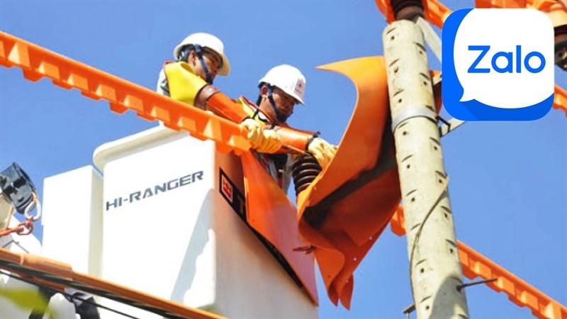 Cách tra cứu lịch cúp điện trên Zalo