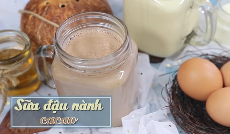 Hướng dẫn cách làm món sữa đậu nành ca cao rất tốt cho sức khoẻ