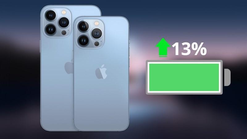 Apple tiết lộ dung lượng pin của dòng iPhone 13