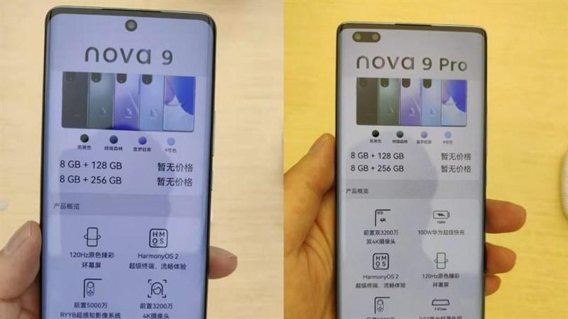 Huawei Nova 9, 9 Pro lộ ảnh chụp thực tế trên tay người dùng