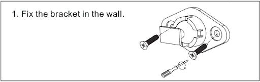 Cố định tấm đỡ vào góc tường