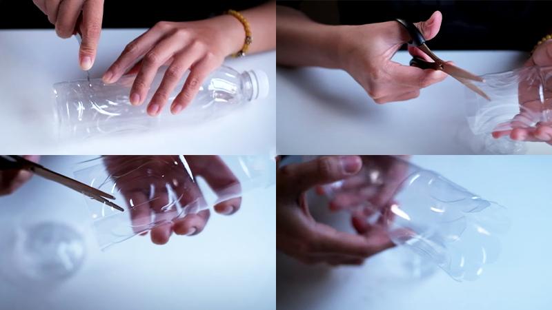 Hướng dẫn cách tái chế chai nhựa thành cây đánh trứng