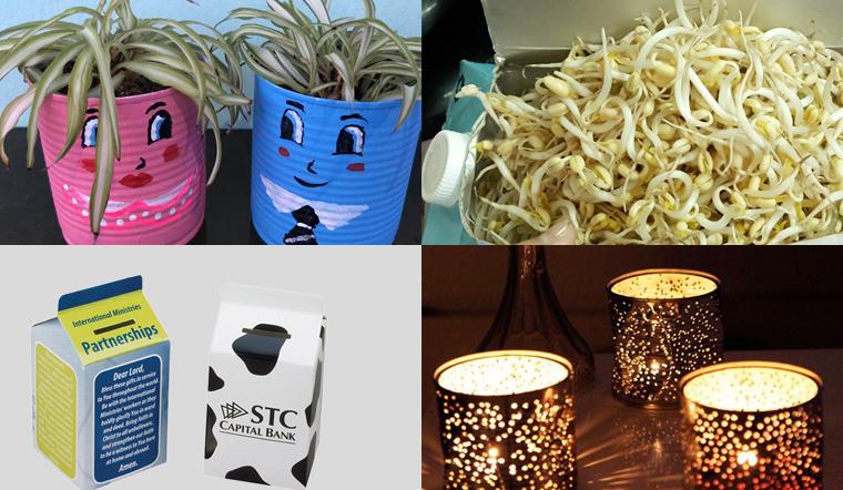 6 cách tái chế hộp sữa dùng xong thành những vật dụng có ích trong nhà của bạn