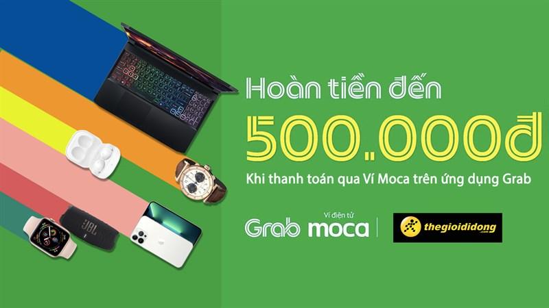 Hoàn tiền 5% cho hóa đơn từ 500K khi thanh toán qua Ví Moca