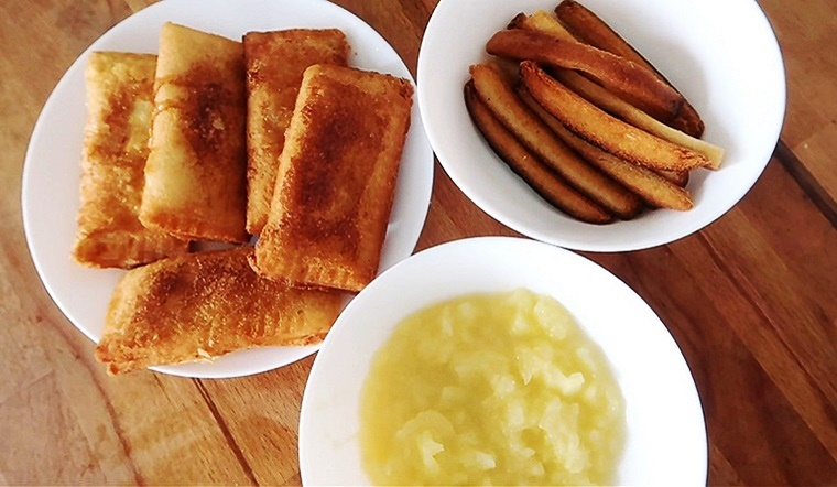 Cách làm bánh táo từ sandwich thơm ngon béo ngậy dễ làm tại nhà