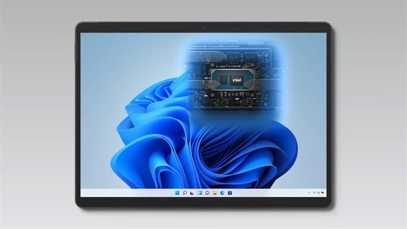 Cấu hình Surface Pro 8 nổi bật với chip Intel Core thế hệ 11. Nguồn: Microsoft.