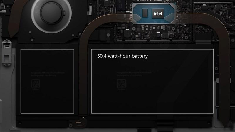 Pin Surface Pro 8 có thể hoạt động liên tục 16 tiếng đồng hồ. Nguồn: Microsoft.