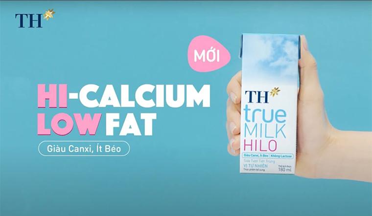 TH True Milk Hilo giàu canxi - ít béo - không lactose đã có tại Việt Nam