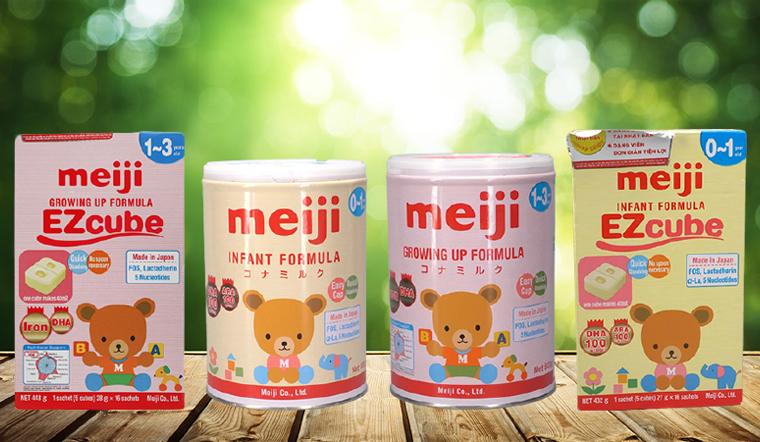 Bổ sung dinh dưỡng cho bé với Sữa bột công thức Meiji