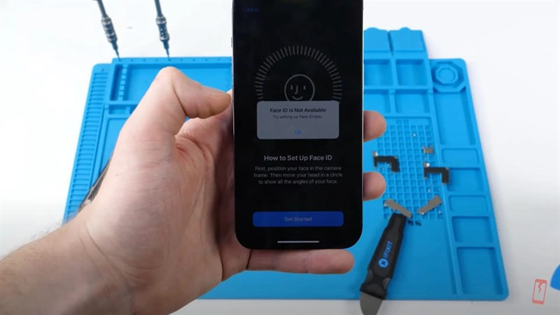 Face ID có thể ngừng hoạt động nếu bạn thay màn hình của bên thứ 3