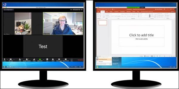 Bật tính năng chia sẻ màn hình kép trong tính năng Thu phóng