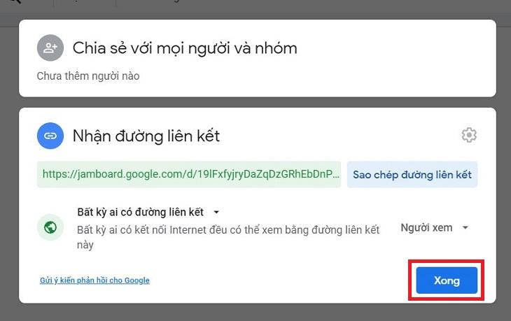 Sau đó, dừng chia sẻ bảng trắng trong Google Meet.