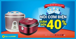 Sale Deal gia dụng Tháng 10, nồi cơm điện giảm lớn đến 40%, giá chỉ từ 550K, giao nhanh tận nhà. Mua ngay!