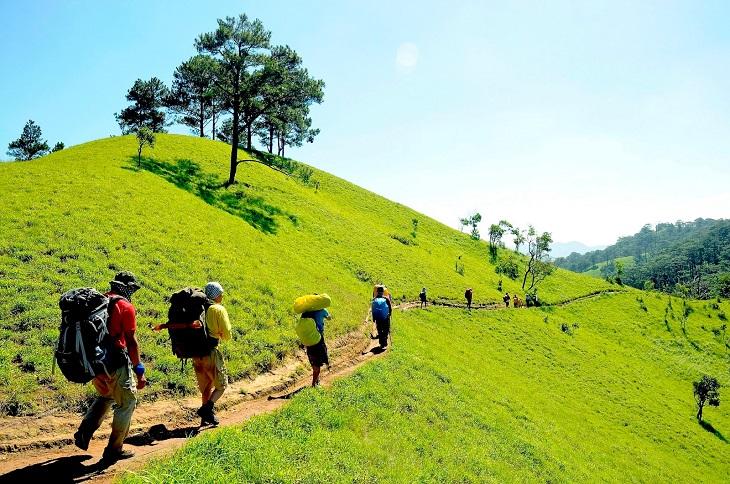 Một số nơi có thể tổ chức đi bộ đường dài