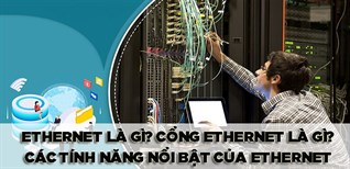 Ethernet là gì? Cổng Ethernet là gì? Tổng hợp các tính năng nổi bật của Ethernet