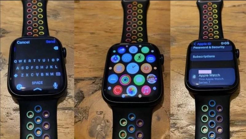 Hình ảnh thực tế đầu tiên của Apple Watch Series 7