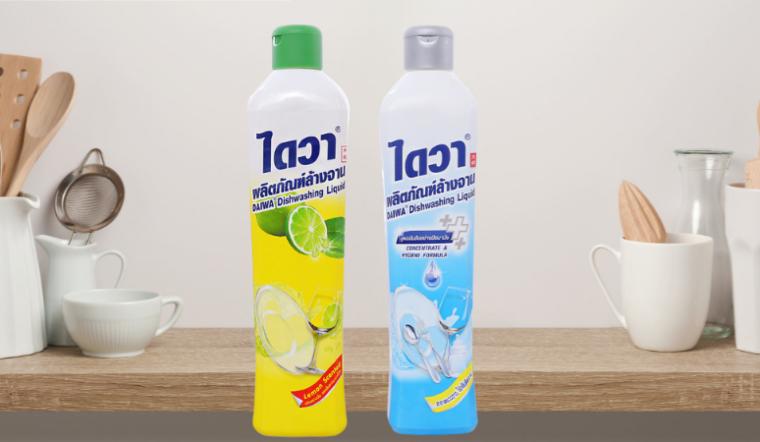 Dùng ngay nước rửa chén Daiwa loại sạch mùi tanh, diệt khuẩn chén dĩa hiệu quả
