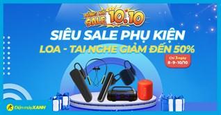 Flash sale 10.10: Loa - Tai nghe Bluetooth sale SỐC đến 50%, hàng chính hãng giá cực hời