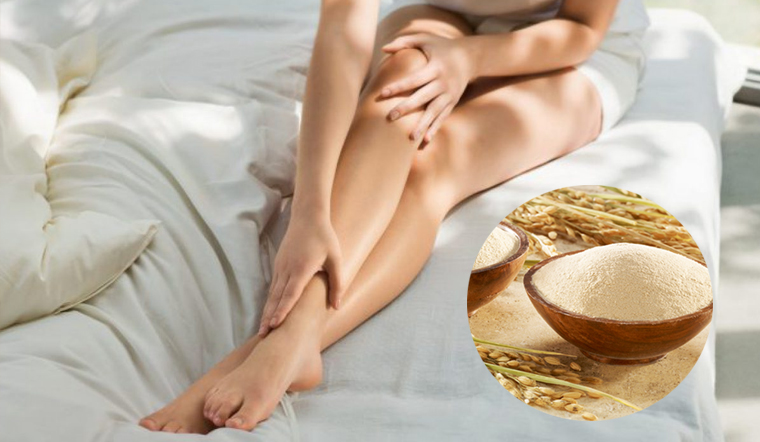 Chữa ngay các vết viêm nang lông ở chân chỉ với 1 bát cám gạo