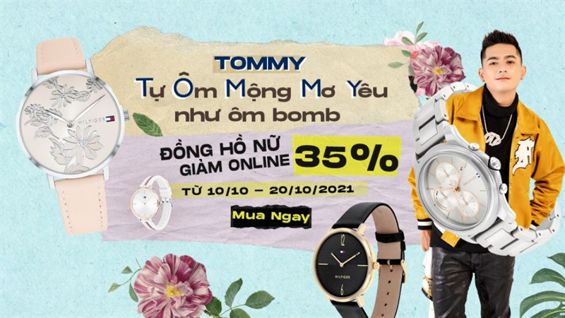 Sale khủng 20/10, đồng hồ thời trang Tommy Hilfiger giảm lên đến 35%