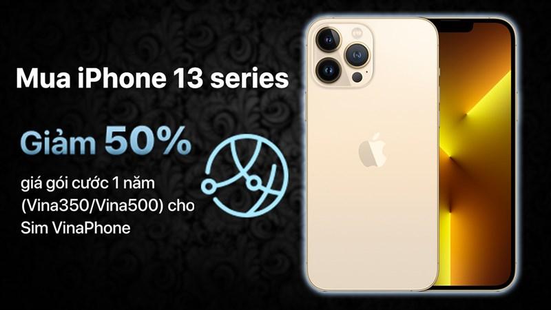 Giảm 50% giá gói cước Vinaphone trả sau khi mua kèm iPhone 13 series