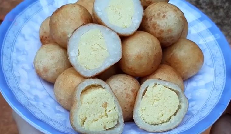 Cách làm bánh khoai mỡ nhân đậu xanh thơm ngon trong dai ngoài giòn