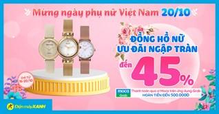 Sale ngày của Nàng - Đồng hồ giảm SỐC đến 45%, chi liền tay - nàng mê ngay!