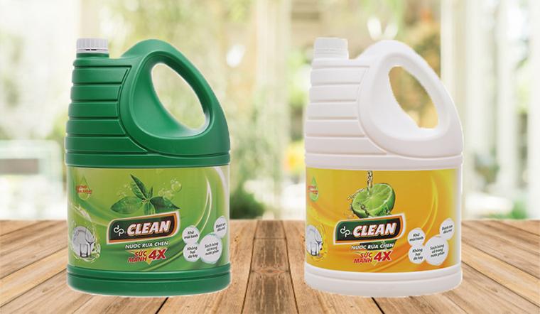Tẩy sạch vết dầu mỡ với nước rửa chén dp CLEAN sức mạnh 4X