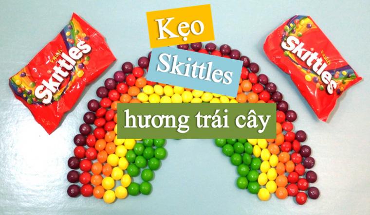 Thưởng thức hương vị ngọt ngào, đầy màu sắc với các loại kẹo Skittles